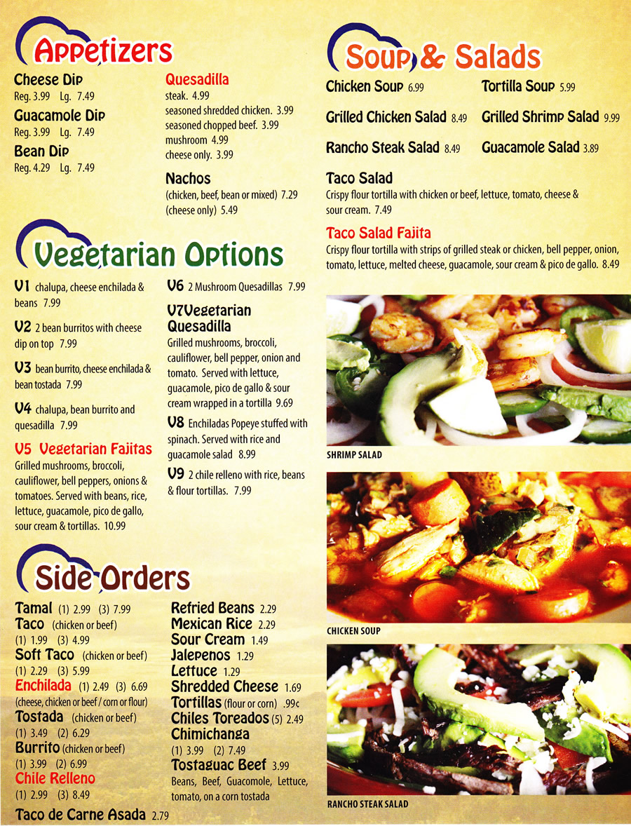 south appetizer menu | amigos topeka mexican food